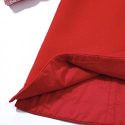 Winter Qipao Dark red