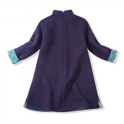 Winter Qipao Deep purple