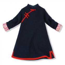 Winter Qipao Navy