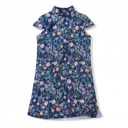 Qipao Navy flower and bee