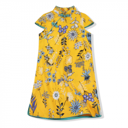 Qipao Yellow flowers