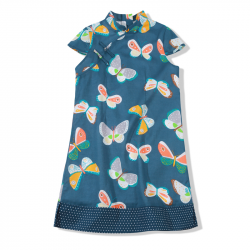 Qipao Blue butterfly