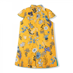 Winter qipao Yellow flowers