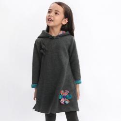 Winter Qipao Gray black