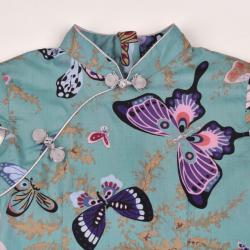 Qipao Green butterfly
