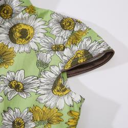 Qipao Green sunflowers