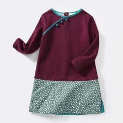 Woolen dress burgundy