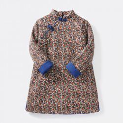 Woolen Qipao flowery