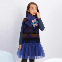 Woolen dress marocain blue