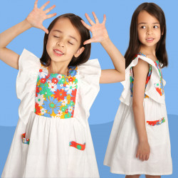 Dress white daisies