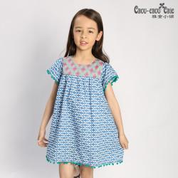 Dress Blue pink garland