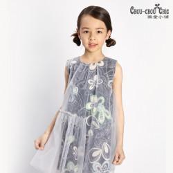 Dress Purple silver flower
