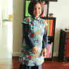 Qipao Pink flower and fruit